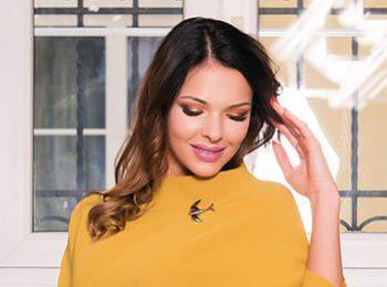 Zółta gustowna sukienka Anna Fashion