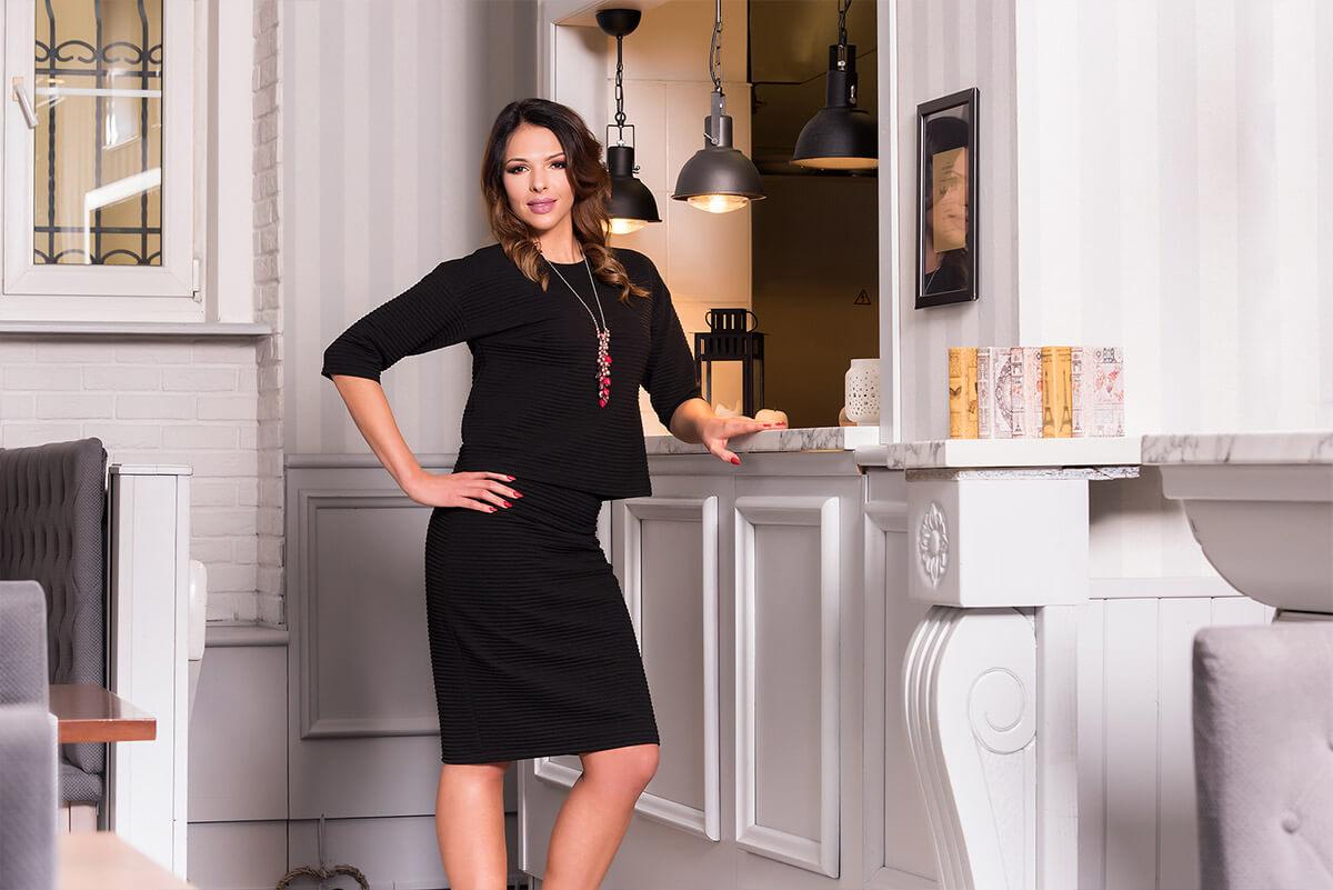Czarna sukienka Anna Fashion