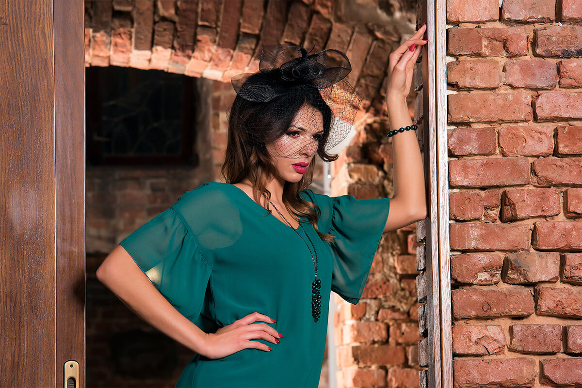 Zielona sukienka Anna Fashion