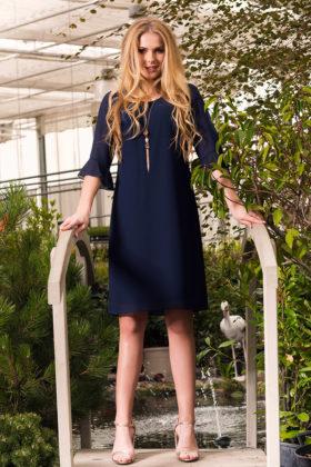 Granatowa sukienka na wiosnę producenta Anna Fashion