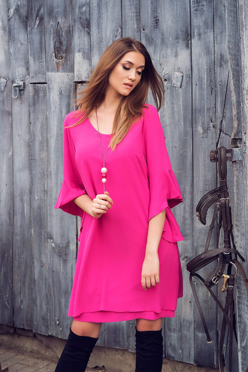 suknia Melania amarantowa