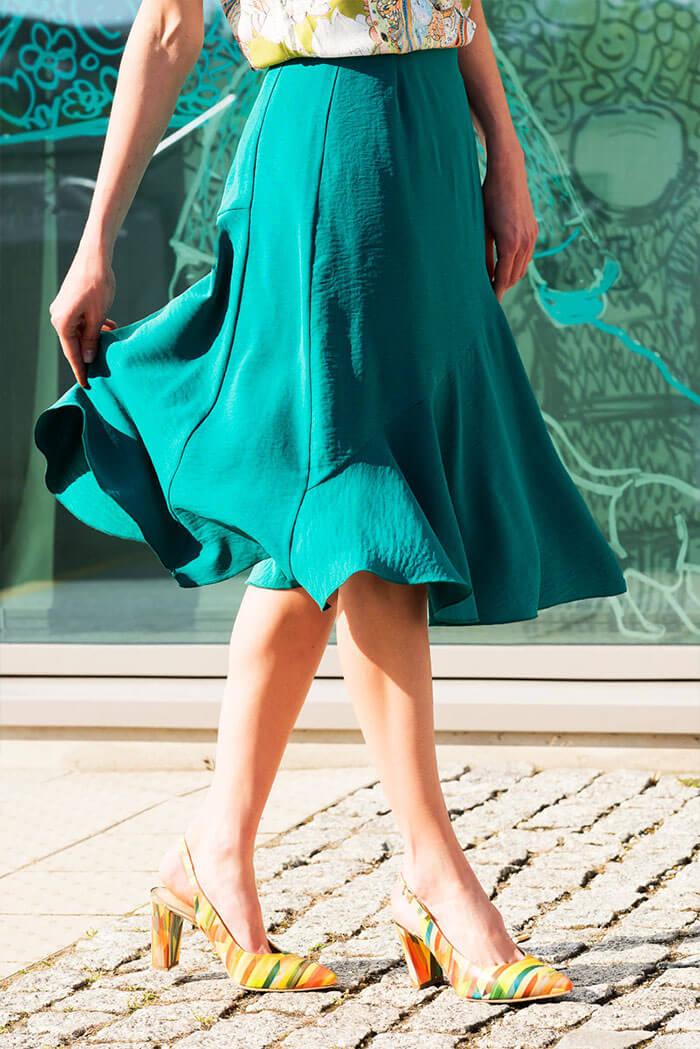 Spódnica Roch – gładka, zielony